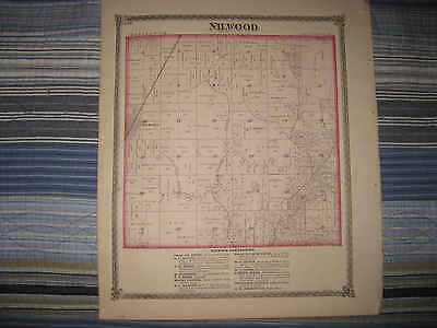 Antique Nilwood Township Girard Gillespie Woodburn Macoupin County Illinois Map