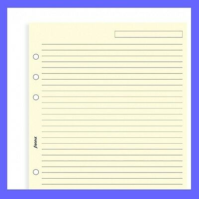 Filofax A5 Cream Ruled Note Paper Insert 343032 Refill