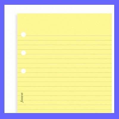 Filofax Personal size Yellow Ruled NOTEPAD Notepaper Insert Refill 132201