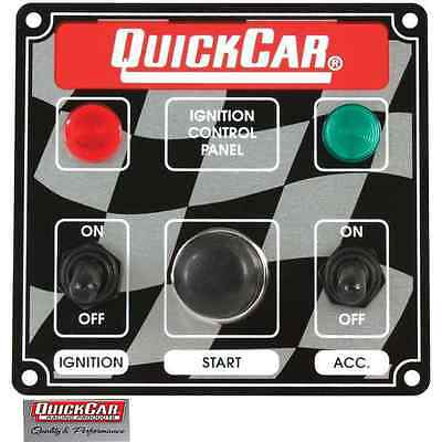 QuickCar Racing Ignition Switch Panel 2 Toggle & Push Buttonw/ Lights 50-022