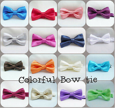 Men boy color bow tie red pink purple blue green wedding ring bearer party suit