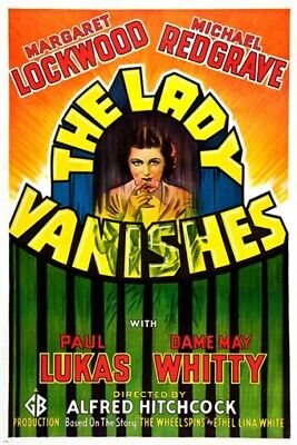 ALFRED HITCHCOCK'S the lady vanishes VINTAGE movie poster 24X36 MYSTERY new