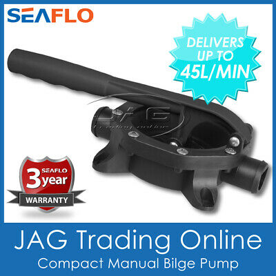 MANUAL BILGE HAND DIAPHRAGM PUMP 45 LPM FIXED HANDLE- Boat/Marine/Water Transfer