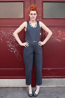 Young Fashion Shop Damen Overall Jumpsuit grau grey 90er True VINTAGE women 90´s