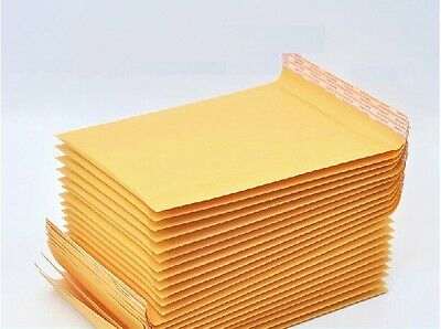 100 x Kraft Bubble Envelopes Padded Mailers Shipping Self-Seal Bags 120x160mm
