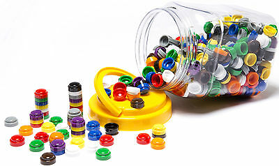 500 Stacking Counters Round Numbers Sorting Colour Counting Maths Games Bulk Buy