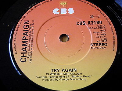 "Champaign - Try Again    7"" Vinyl"