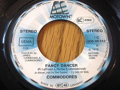 "Commodores - Fancy Dancer     7"" Vinyl"