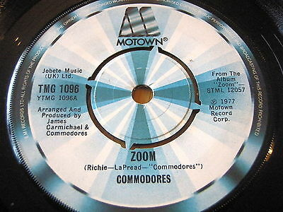 "Commodores - Zoom     7"" Vinyl"