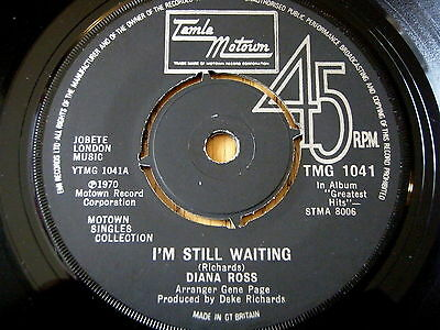 """DIANA ROSS - I'M STILL WAITING / TOUCH ME IN THE MORNING    7"""" VINYL"""