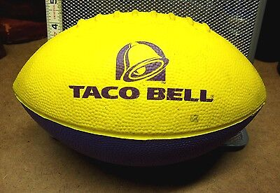 TACO BELL purple foam football fast-food logo Tex-Mex burritos kids ball