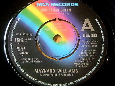 "Maynard Williams - Christmas Dream    7"" Vinyl Demo"