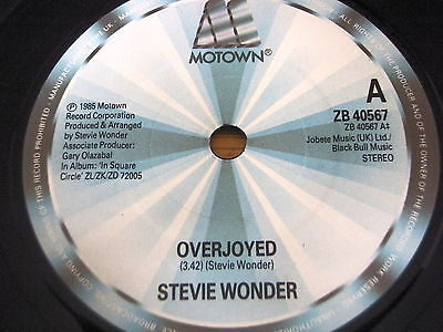 "Stevie Wonder - Overjoyed    7"" Vinyl"