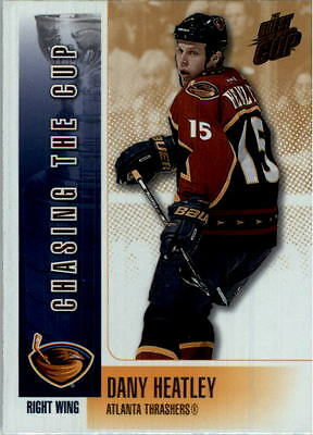 2002-03 Pacific Quest For the Cup Chasing the Cup INSERT #2 Dany Heatley