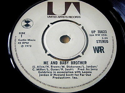 """War - Me And Baby Brother   7"""" Vinyl"""