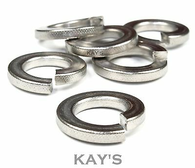 Spring Lock Washers A2 Stainless Steel Square Coil Section Metric M2 - M30