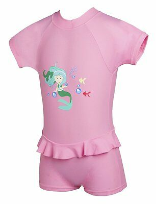 Beautiful Baby Girls Sun Protection UP50+ Sun Suit Swimwear Pink