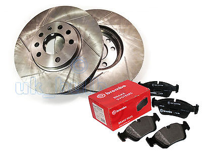 GROOVED REAR BRAKE DISCS + BREMBO PADS AUDI A6 (4A, C4) 2.8  quattro 1994-97