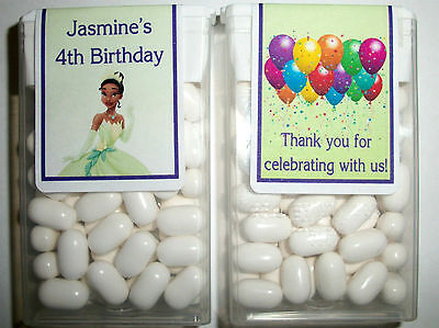 14 DISNEY PRINCESS  TIANA BIRTHDAY PARTY FAVORS TIC TAC LABELS ~ PERSONALIZED