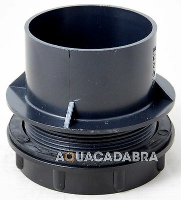 "2"" Threaded Solvent Weld Tank Connector Pond End Cap With Rubber Washer Seal"
