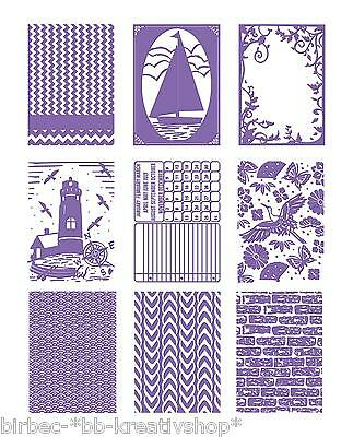 """1 COUTURE CREATIONS Prägeschablone EMBOSSING FOLDER """"The Harmony Collection"""" B6"""