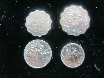 """4 - COINS FROM THE """"SADDAM HUSSEIN"""" ERA - AU - *Own a Piece of History*l 1981 AD"""