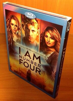 -NEW- I Am Number Four 4 w/ Slip Cover Blu Ray Disc, 2011