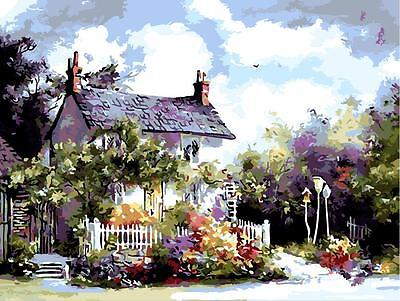 Acrylic Paint by Numbers kit 50x40cm (20x16'') A Sweet Building DIY PBN YZ7006