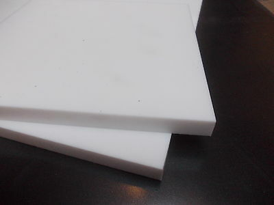 12MM THICK PTFE SHEET 150MM X 100MM new white teflon engineering material plate
