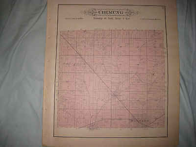 ANTIQUE 1892 CHEMUNG TOWNSHIP LAWRENCE HARVARD McHENRY COUNTY ILLINOIS MAP NR