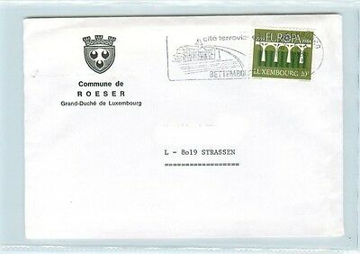 i3991 Luxemburg, ab Bettembourg Brief Roeser 1985