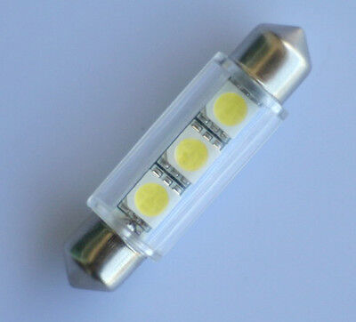 1x 42mm Soffitte Lampe C10W 3 x 5050 SMD LED weiss Innenraum Beleuchtung 12V
