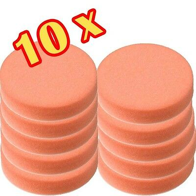 10 Stück 150mm Craft-Equip Polierschwamm Polierpads orange glatt  K3006A-2-150