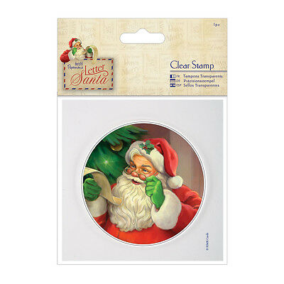"""Papermania 4"""" Clear Unmounted Christmas Stamp (1pc) - Letter to Santa - Santa"""