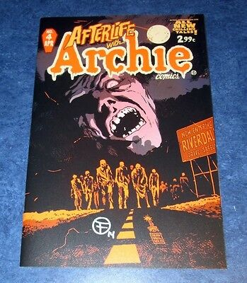 AFTERLIFE with ARCHIE #4 signed 1st print FRANCESCO FRANCAVILLA 2013 ZOMBIES COA