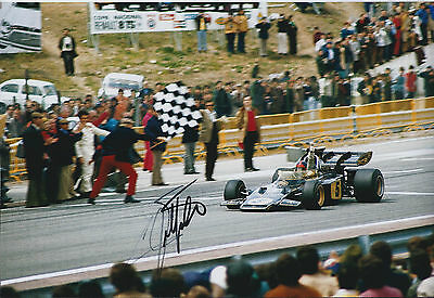 Emerson FITTIPALDI Autograph SIGNED JPS Lotus Racing Driver 12x8 Photo AFTAL COA