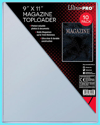 """10 Ultra Pro 9""""x11"""" Thick Magazine Holder TOPLOADERS NEW Pack Protector Document"""
