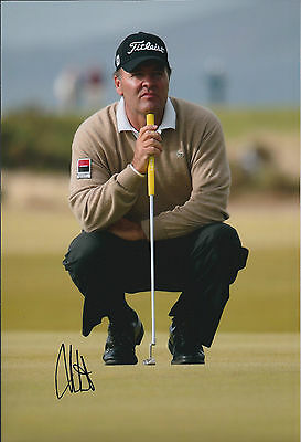 Thomas LEVET SIGNED Autograph 12x8 Photo AFTAL GOLF St Andrews SCOTLAND