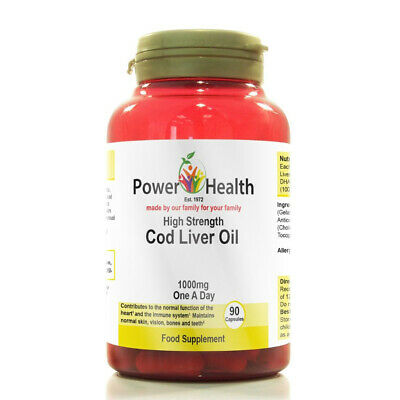 Power Health High Strength Cod Liver Oil 1000mg 90 Capsules