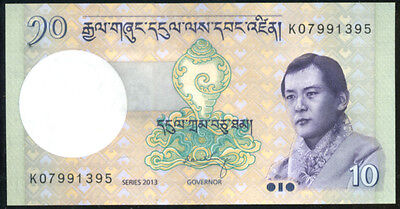 BHUTAN  - 10  NGULTRUM  2013    P 29 NEW LOT 3 PCS  Uncirculated Banknotes