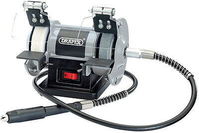 Draper 06498 75mm 50W 230V Mini Bench Grinder with Flexible Drive Shaft
