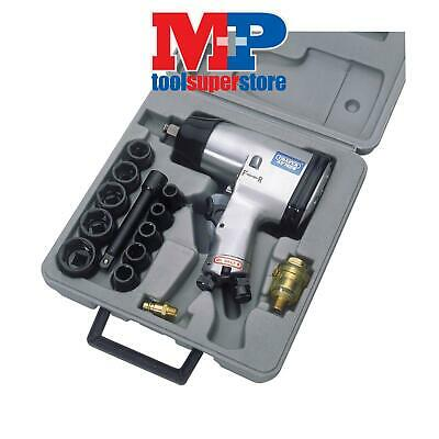 """Draper 55360 1/2"""" Square Drive Heavy Duty Air Impact Wrench Kit (15 Piece)"""