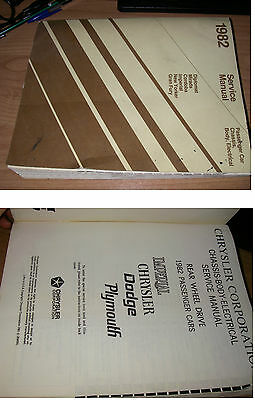 1982 service manual passenger car chassis body electric