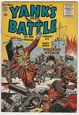 Yanks In Battle #1,first Issue,quality Comics,nice Glossy Book!