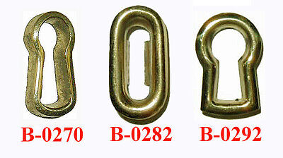 POLISHED BRASS KEYHOLE INSERTS, Assorted Styles, Sold in Pairs or Lots of 6