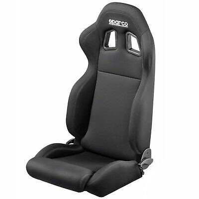 Sparco R100 Lightweight Sport Seat - Motorsport/Racing - Fabric Material - Black
