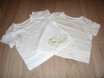 **BNWT** SET of 2 MARKS & SPENCER T SHIRTS - NEWBORN