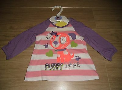 **BNWT** MARKS & SPENCER LONG SLEEVE TOP ~ PUPPY LOVE ~ AGE 3-6 months