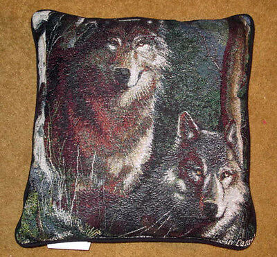 Wolves ~ Watchful Eyes Tapestry Pillow ~ Artist, Kevin Daniel