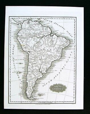 1847 Malte-Brun Map - South America Brazil Argentina Chile Columbia Peru Amazon